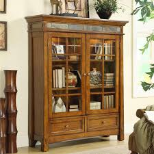 solid wood bookcases glass doors