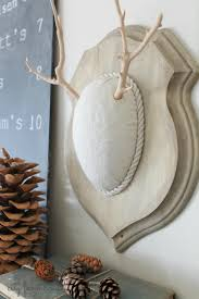 diy faux driftwood deer antlers simple fall project