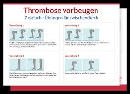 anzeichen thrombose