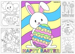 Easter Coloring Pictures To Print Basket Coloring Page By Oriental