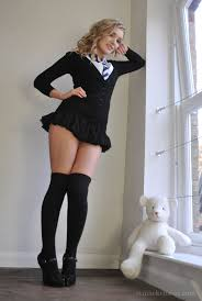 Teen Petite Shaved Blonde Schoolgirl Faye Taylor with Coin Slot.