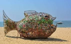 Fish Wire Designs All It Took To Clean Up This Beach Was A Fish Sculpture