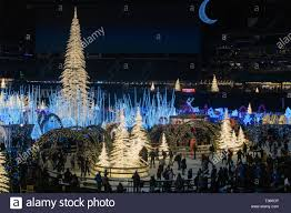 Qwest Field Christmas Lights Seattle Washington 2018 12 09 People Ice Skating In The