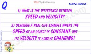 Speed Vs Velocity 9 Speed Vs Velocity Gcsephysicsninja Com