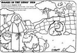 Small Picture Daniel In The LionS Den Coloring Page Part 5 Free Resource
