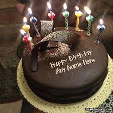 beautiful happy birthday chocolate cake with candles. Delighful Candles On Beautiful Happy Birthday Chocolate Cake With Candles 0