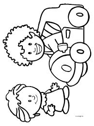 Kleurplaat Jongen En Meisje Kleurplatennl