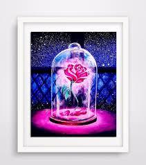 new diy diamond embroidery rose 5d diamond painting cross stitch beauty beast mosaic pattern full round
