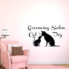 cat wall art dog and grooming salon decals vinyl sticker pet window decor removable canada cat wall art