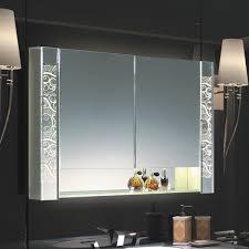 Bathroom mirror cabinets with lights Modern Soak Led Mirror Cabinet W Adjustable Shelves Single Door