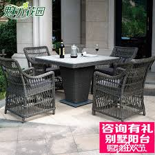get ations charm garden outdoor patio garden terrace leisure furniture rattan rattan round side table and four chairs