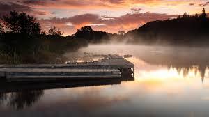 lake at night foggy. foggy evening lake at night e
