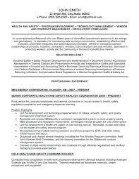 Safety Officer Resume Sample Occupational Health And Safety Resume Examples Senior Health And