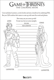 Game Of Thrones Coloring Pages Album On Imgur