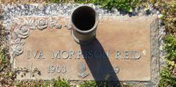 Iva Morrison Reid (1903-1989) - Find A Grave Memorial