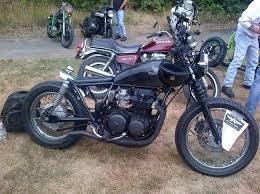 1982 honda cb650 bobber motorcycle in black