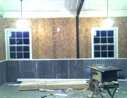 garage wall covering garage wall covering corrugated metal for interior walls the garage journal board wall