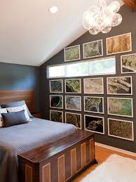 bachelor bedroom furniture. example of a trendy bedroom design in los angeles with brown walls bachelor furniture