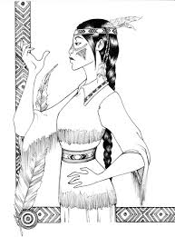 Native American Woman Coloring Pages