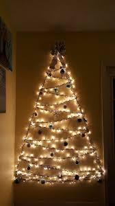 Christmas Tree Design On Wall With Lights Twinkle Lights Christmas Tree Lighted Wall Christmas Tree
