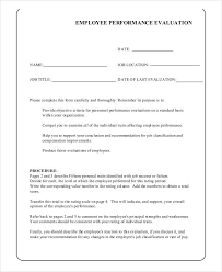 How To Create An Employee Evaluation Form Employee Evaluation Form In Pdf
