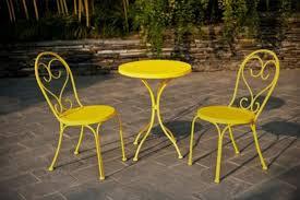 yellow patio furniture. Amazon.com: Small Space Scroll 3 Piece Chairs \u0026 Table Outdoor Furniture  Bistro Set, Yellow, Seats 3: Garden Yellow Patio Furniture U