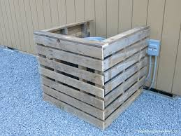 outdoor pallet wood. DIY Pallet AC Cover | Wood A/C Air Conditioning Outdoor
