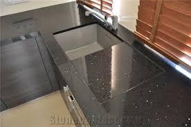 heban black conglomerates resin composites kitchen countertop
