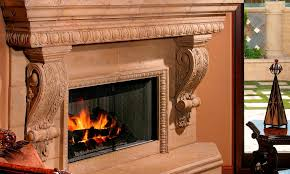 custom integrated fireplace design egg and dart architectural trim in two sizes graziella corbel