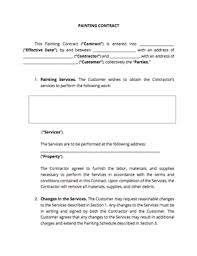 painting contracts templates painting contract template docsketch