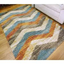 soft 20mm thick modern chevron design floor area rugs sight beige turquoise chocolate