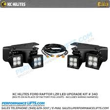 kc hilites ford raptor lzr led bumper pair pack driving beam 340