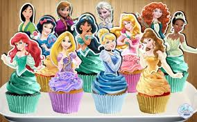 Printable Disney Princess Cupcake Toppers Princess Cupcake Etsy