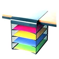 wall mount file folder organizer mounted hanging folders desk vertical holder