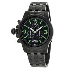 invicta lefty watches on discount watch store invicta 10059 men s specialty lefty black dial black ion plated stainless steel chronograph watch