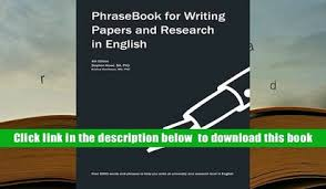 Phrasebook for writing papers and research in english free   Fresh