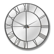 mirrored wall clock outdoor undefined fancy design mirror wall clock