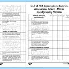 skills tracking sheet end of ks1 expectations interim assessment tracking sheet
