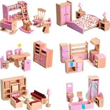 plastic dollhouse furniture sets. Plastic Dollhouse Furniture Cheap 6 Styles Wooden Set Kid Room Bedroom Miniature Construction Sets I