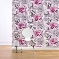 Purple Feature Wall Bedroom Girls Chic Wallpaper Kids Bedroom Feature Wall Decor Various