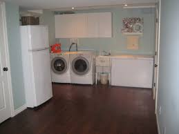 Wonderful Laundry Room Decor Room Top Unfinished Basement Design Ideas
