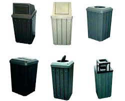 trash cans outdoor commercial with lids out door for costco garbage o