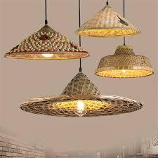 bamboo pendant light. Chinese Farm Hat Bamboo Pendant Light For Living Room Restaurant Exhibition Hall Handmade Decoration Lighting M