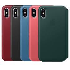 apple iphone xs leather folio