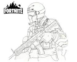 Printable Fortnite Coloring Pages For Kids