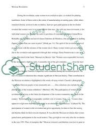 role and participation of women in the mexican revolution essay  mexican revolution essay example text preview