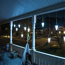 Balcony Lights Solar Led Tree Hanging Lights Color Changing Balcony Garden Outdoor Chandelier Decorative Lights Ni Mh Battery Lamp