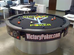 VictorPoker.com Round Custom Pool Table