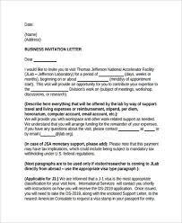 7 Sample Business Invitation Letter Free Sample Example