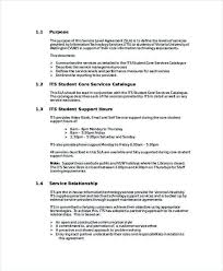 Shared Services Service Level Agreement Template Acquisition ...
